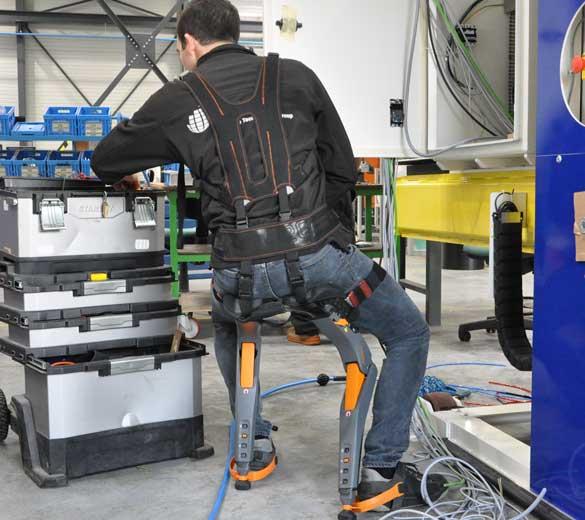 Exosquelette assis debout câblage armoire électrique - GOBIO