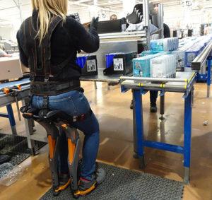 IP 14 - chaise exosquelette logistique pour posture assis debout
